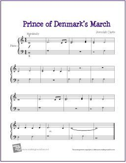 Prince of Denmark\'s March/Trumpet Voluntary for Piano - http ...