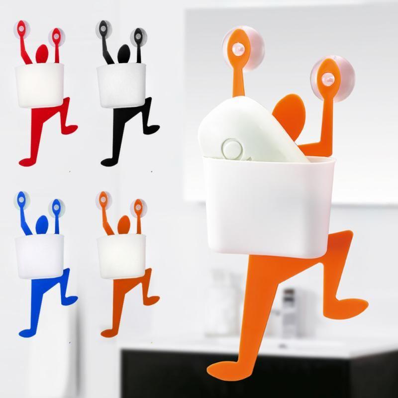 Creative Climber Shaped soap box sponge holder bathroom kitchen Accessories FA5-13L
