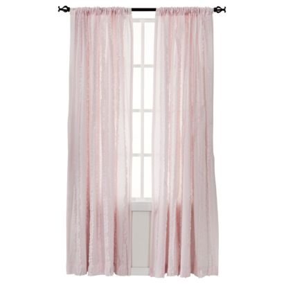 Simply Shabby Chic Dobby Stripe Sheer Curtain Panel