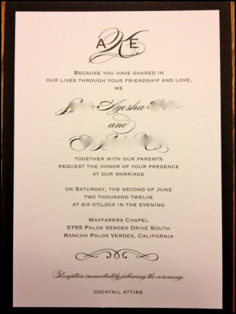 Personal Wedding Invitation Wordings for Friends Wedding Ideas - marriage invitation mail format