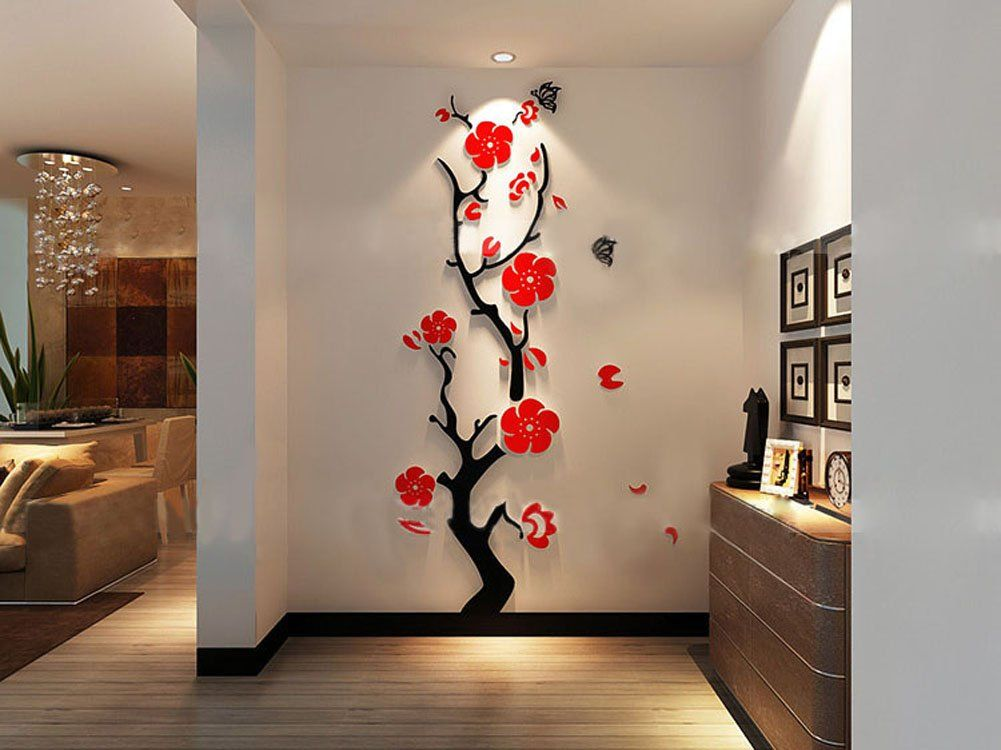 Amazon Com 3d Plum Wall Murals For Living Room Bedroom Sofa Backdrop Tv Wall Background Or Diy Wall Decals Wall Stickers Living Room Kids Room Wall Stickers