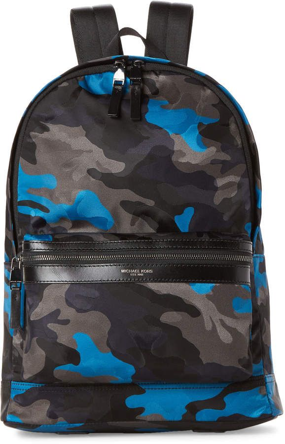 28a0aefdf ... ffa408c824ed Michael Kors Kent Nylon Camo Backpack | Products in 2019 |  Camo .