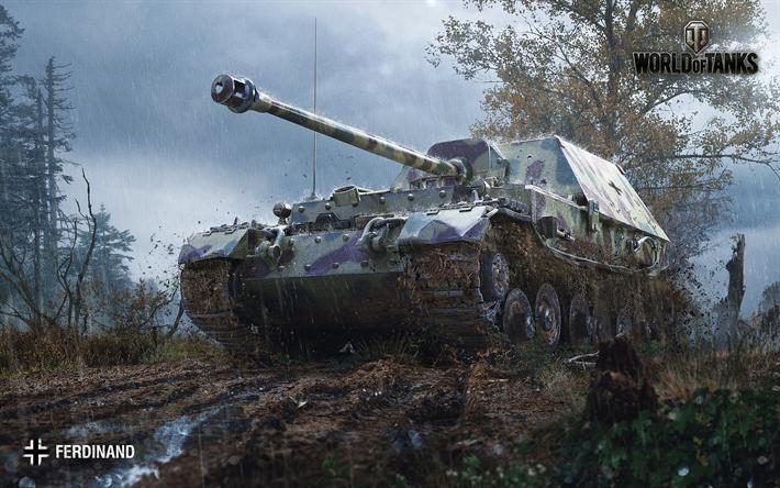 Download Wallpapers World Of Tanks Ferdinand German Self Propelled