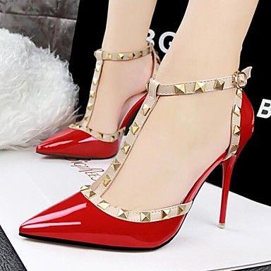 Mujer Zapatos Semicuero Primavera / Verano Confort Tacón Stiletto Tachonado  Gris / Morado / Rojo / Vestido 2020 - US $29.99 | Zapatos mujer, Zapatos  nike mujer, Tacones de aguja