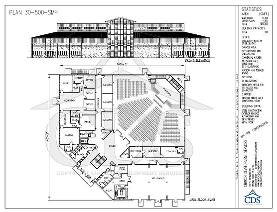 Church Floor Plans 30 40 K Square Feet Church Building Design Church Building Plans Church Design Architecture