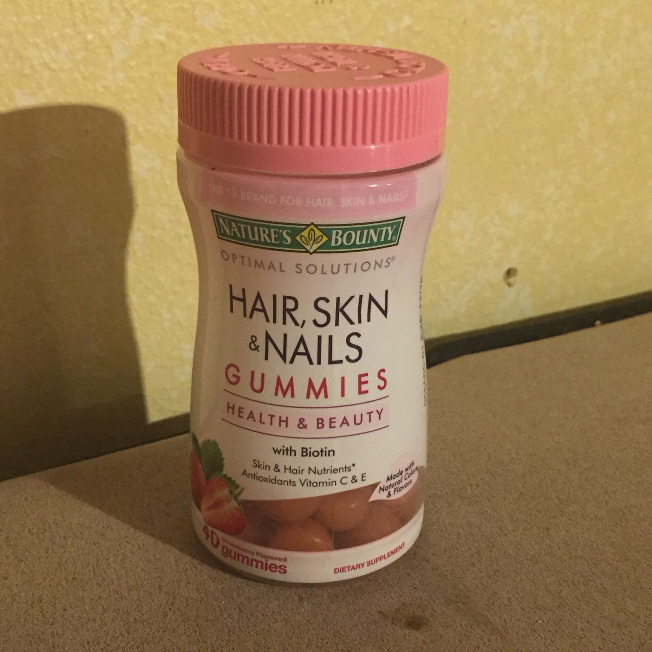 Nature's Bounty- Hair, skin and nails Gummies  I received this product free for my honest review.  These are a tasty gummy designed to support your hair, skin, and nails. They are easy to work into your routine.  I have used them for four weeks now, and although I haven't seen a great difference, I have decided to keep taking them for another month and see if I notice a change.