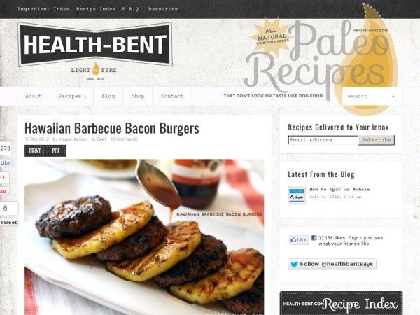 Health-Bent's pineapple bacon burgers.  Heck, yeah.
