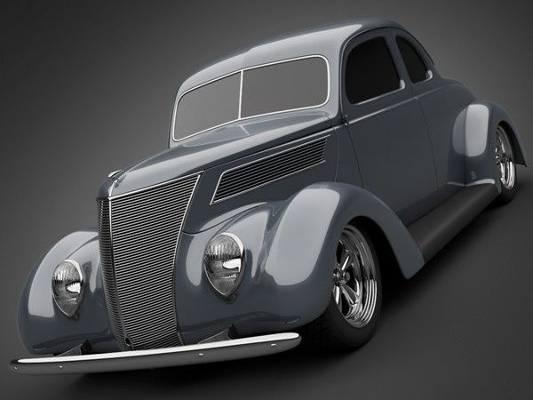 1937 Ford Coupe 5 Window 3d Model Lwo Max Obj 3ds Cgtrader Com Ford Classic Cars Classic Cars Trucks Hot Rods Classic Cars