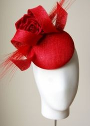 Poppy Red Wedding Guest Hat