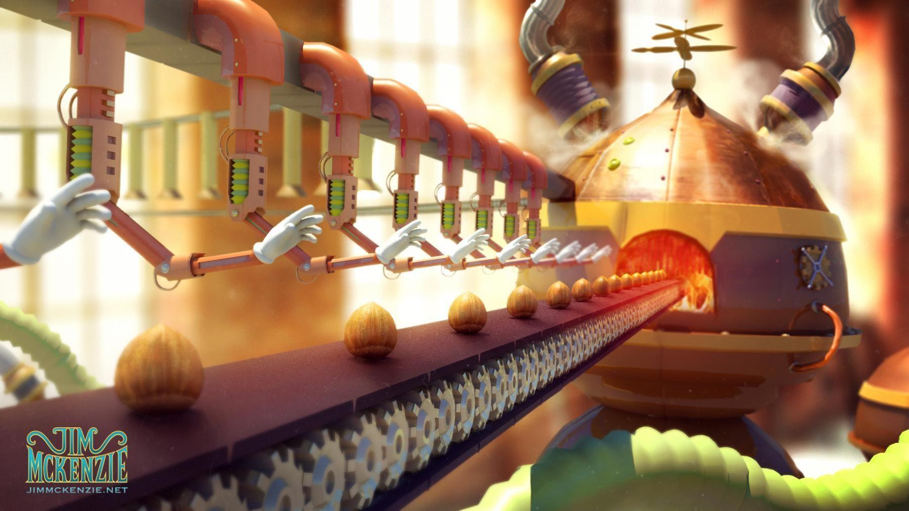 Chocolate Factory Concept Art / 3D Model Concept art