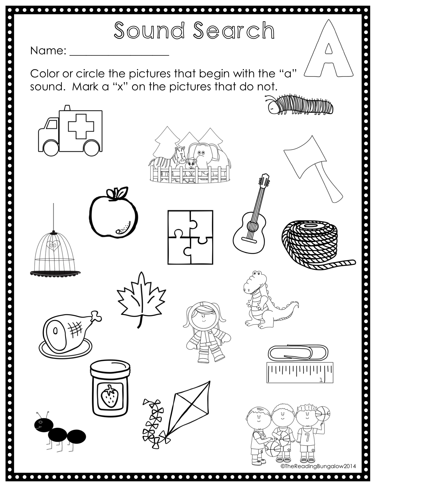 First Sound Fluency Sound Search