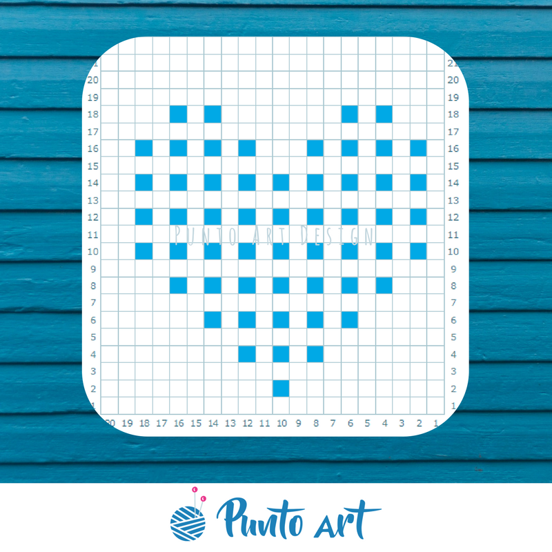 free pattern heart #knitting #crochet #punto #patron #pattern #c2c ...