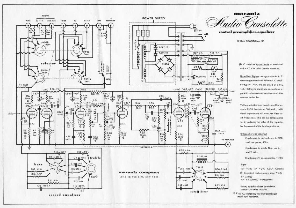 medium resolution of name marantz model one type tube preamplifier country usa year 1953 il