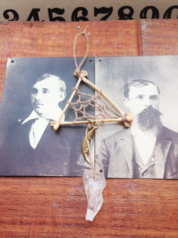 Amulet talisman Triangle Bone Dream Catcher by EmelyRoseBoutique
