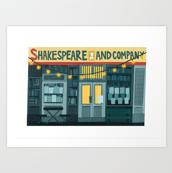 """Shakespeare & Co."" print by Raphaella Martelino 