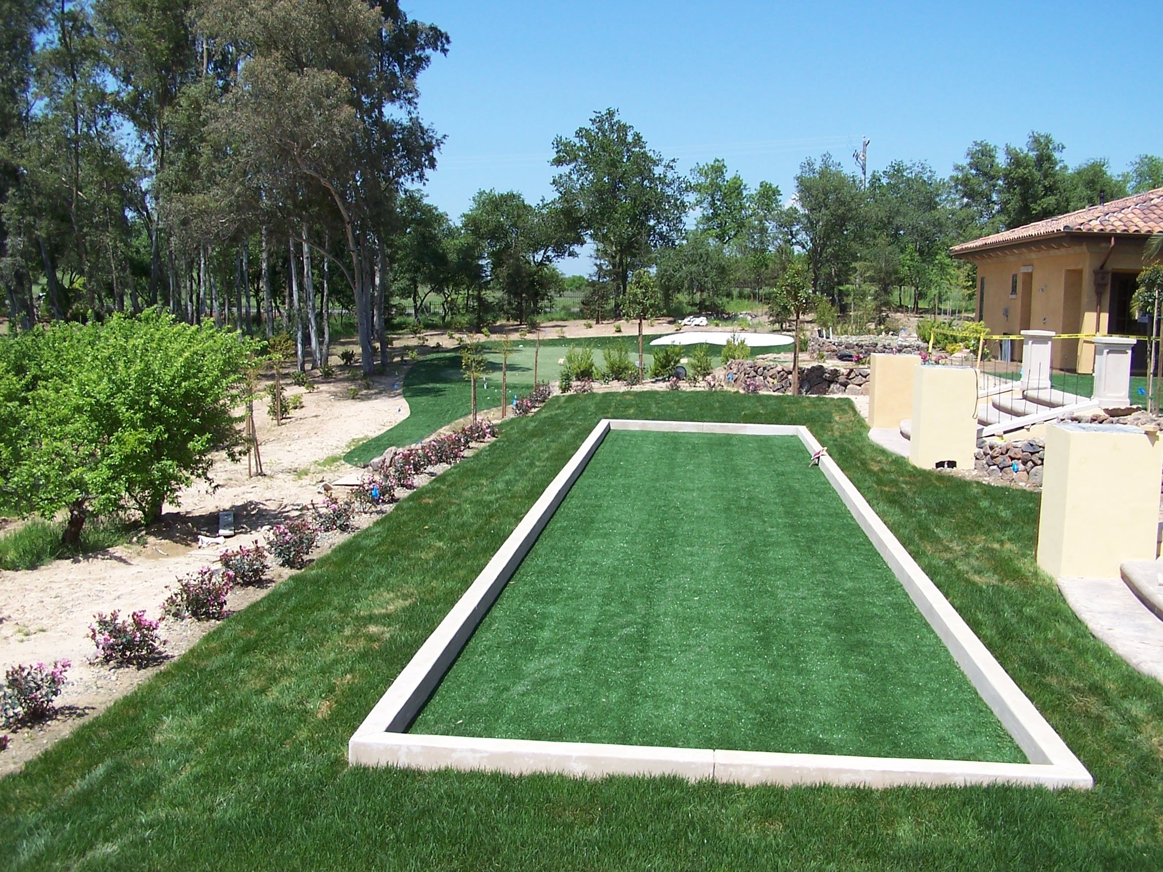 Bocce court at home boccecourt1 bocce ball court