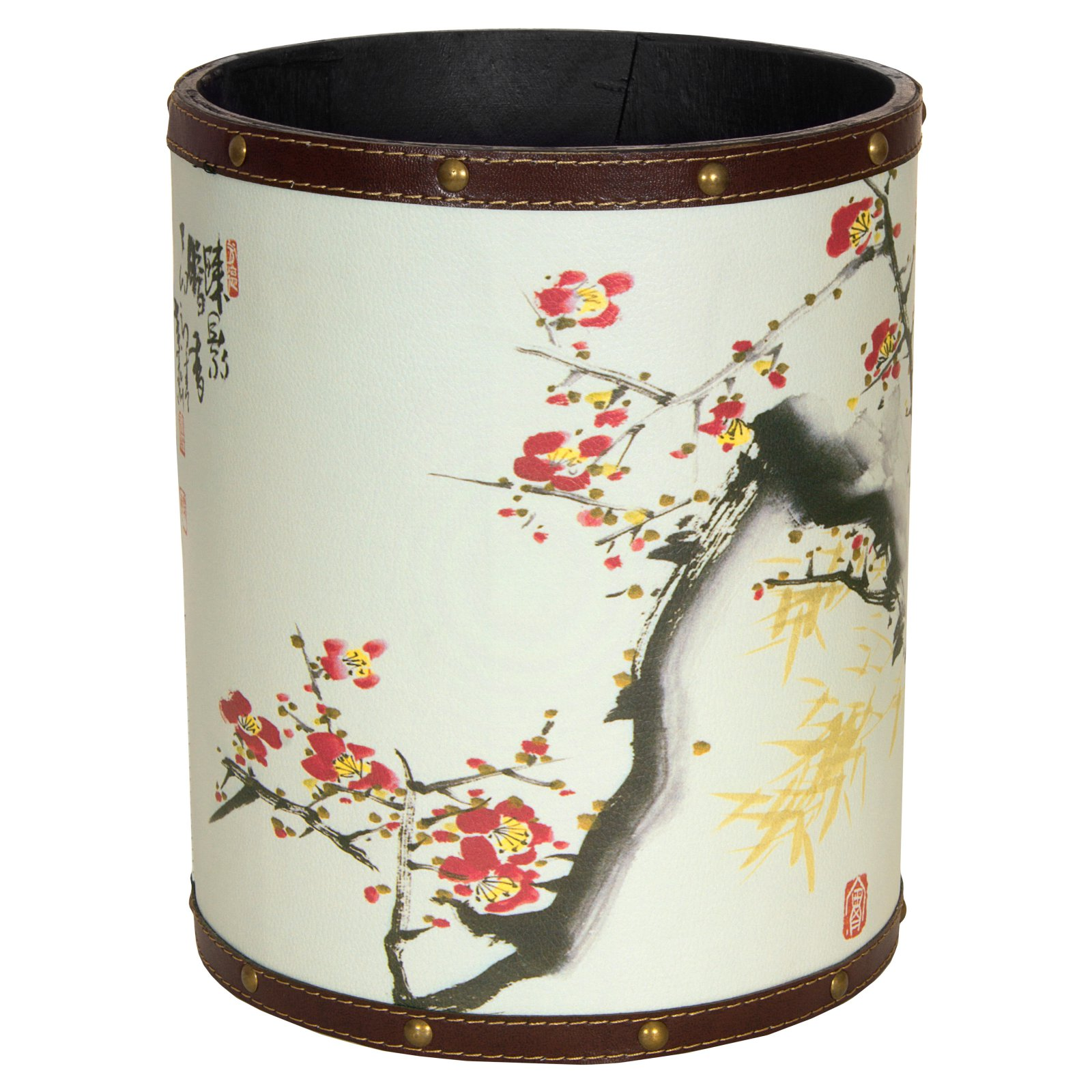 Oriental Furniture Cherry Blossom Waste Basket In 2019