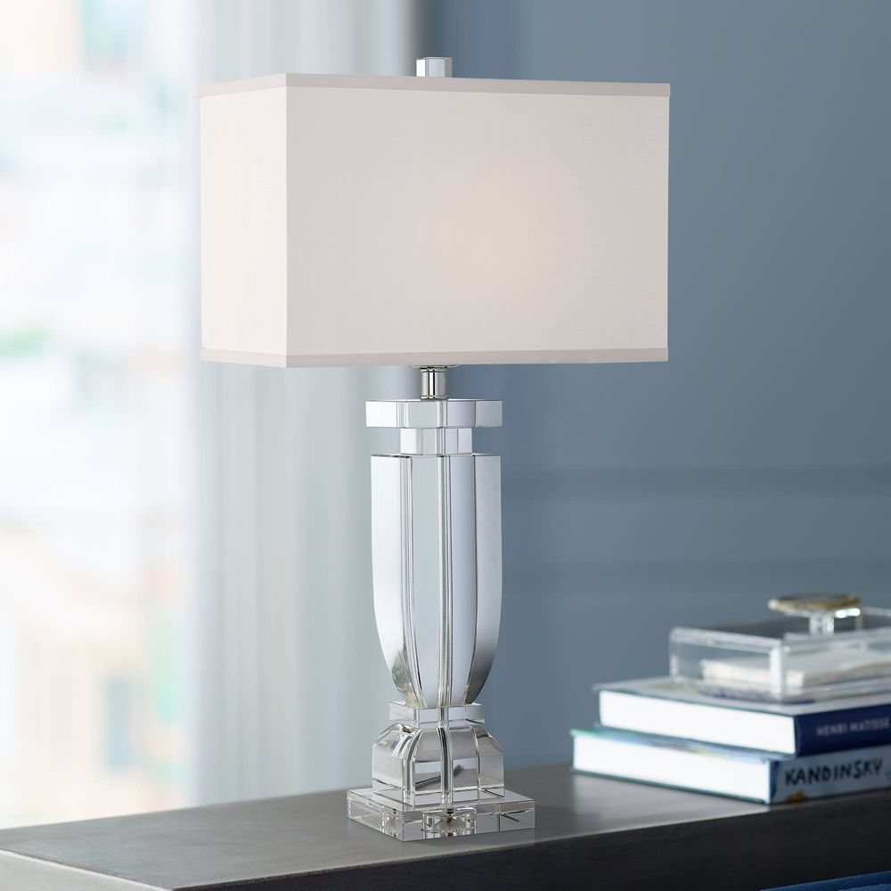 Emilia crystal table lamp with rectangular shade lamps pinterest