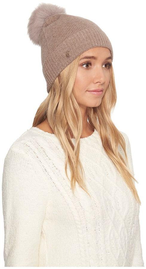 39363747e8c77 UGG Luxe Cuff Hat w  Oversized Toscana Pom Beanies