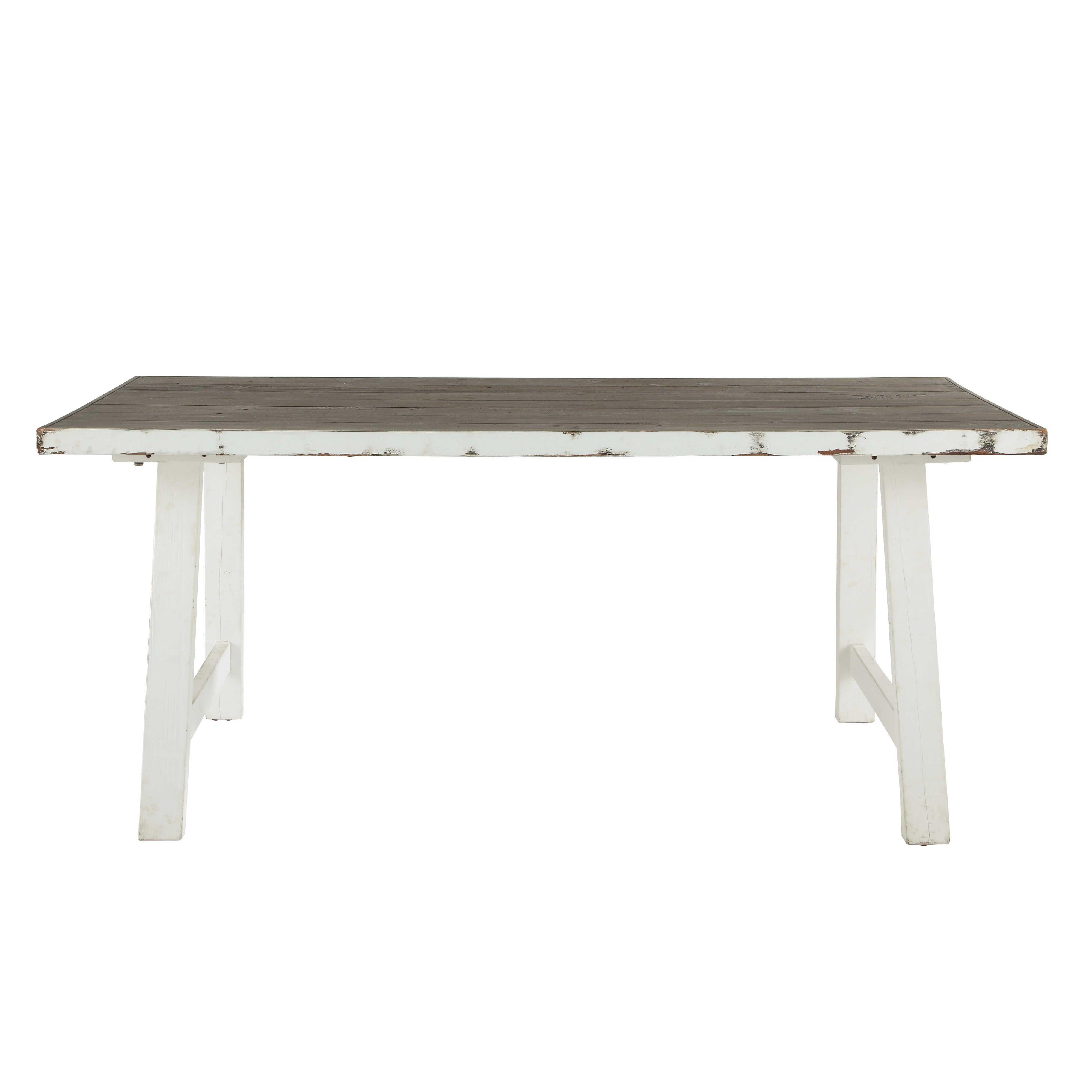 Table à manger en bouleau blanche L 180 cm Bloom