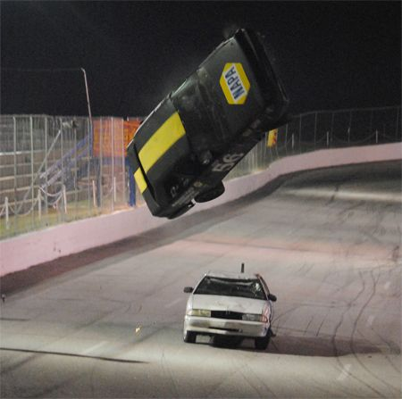 Hollywood Stuntman James Smith Flips A Race Car At The Dillon