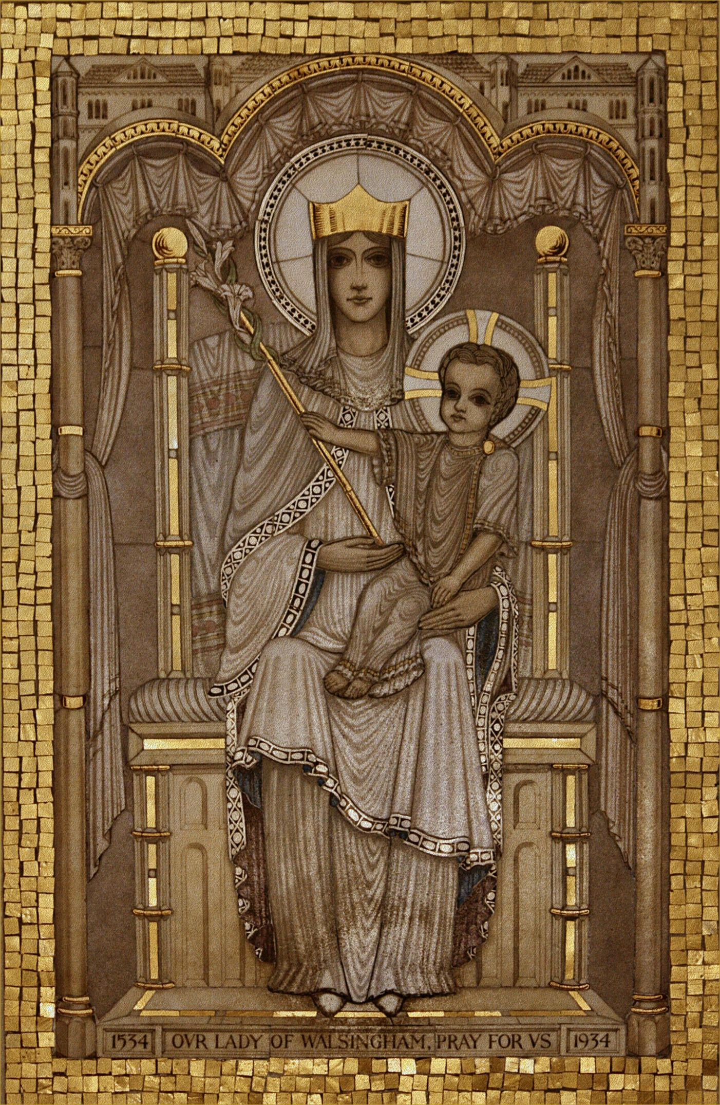 Lady Of Walsingham Icons Blessed Virgin Mary