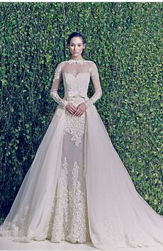 2014 Long Sleeve Muslim Dubai Custom Made luxury ball gown zuhair murad wedding dress