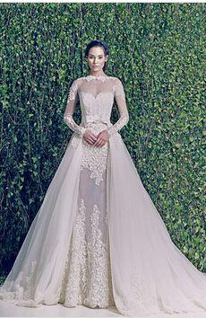 2014 Long Sleeve Muslim Dubai Custom Made luxury ball gown zuhair murad wedding dress