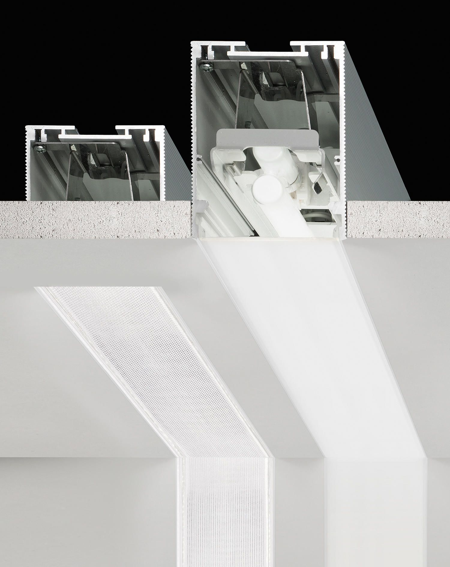 Nolita Fluo Xg2040 Von Panzeri Allgemeinbeleuchtung Lineare Beleuchtung Einbauleuchten Streifenbeleuchtung