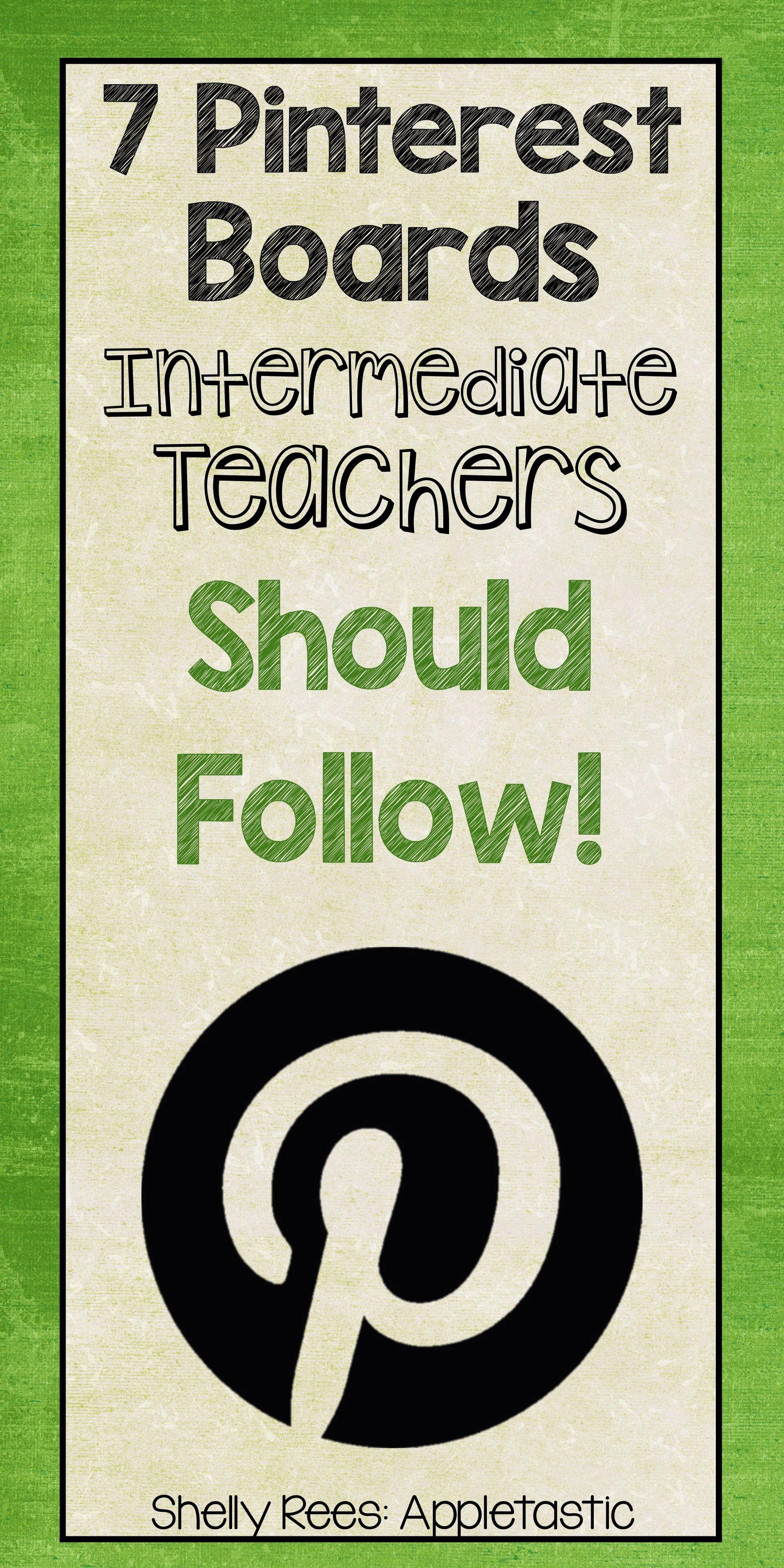 7 Pinterest Boards Intermediate Teachers Should Follow