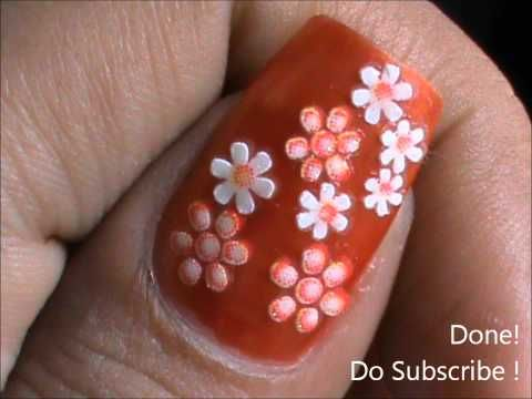 easy flowernail art to do at home nail designs for beginners diy nail art designs - Nail Designs Home