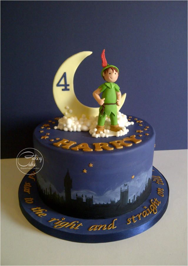 Strange Peter Pan Cake By Cakeycake With Images Peter Pan Cakes Personalised Birthday Cards Beptaeletsinfo