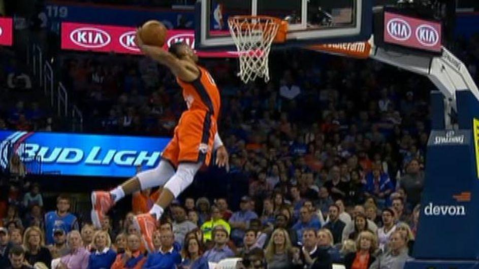 Westbrook destroys rim on breakaway ESPN Video Espn