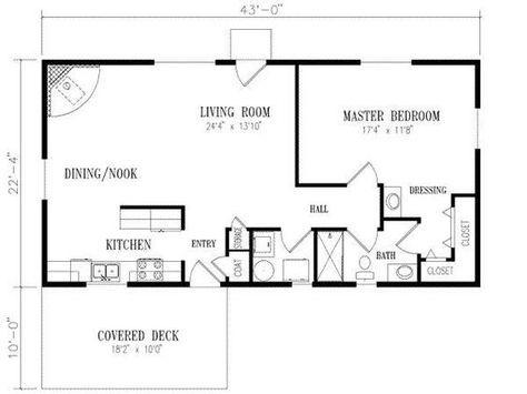 Floor Plan For 20 X 40 1 Bedroom Google Search 1 Bedroom House Plans 1 Bedroom House 20x40 House Plans