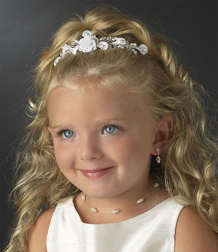 Flower Girl Hairstyles For Wedding: Flower Girl Headpieces Brown - Google Search