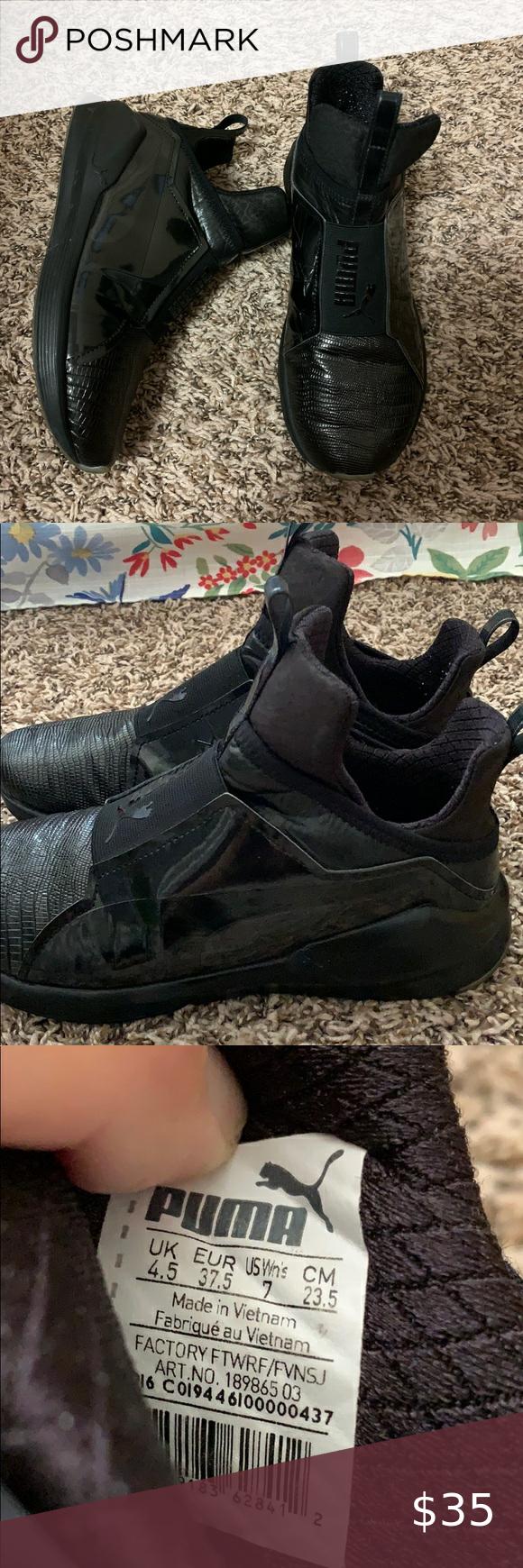 Fenty x Puma black trainers in 2020