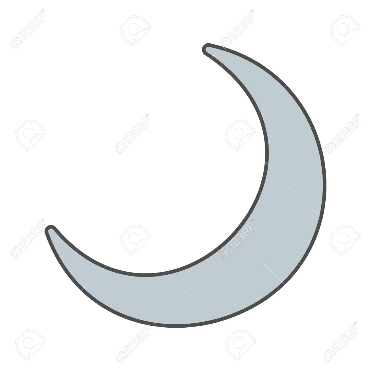 crescent moon vector icon sign icon vector illustration for personal and commercial use clean look trendy icon moon vector flyer layout vector illustration crescent moon vector icon sign icon