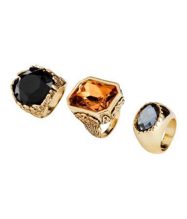 H&M Pack de 3 anillos 9,99 €