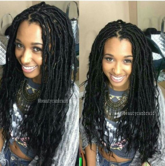 Inspiration Faux Locs Hairstyles