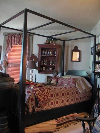 Early American Home Gallery Bedroom Decorating County And Armerican Colonial Design