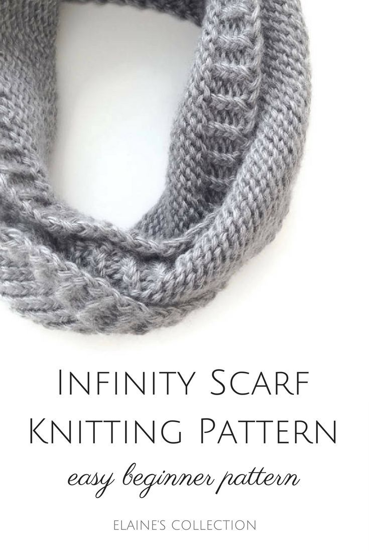 Infinity scarf knitting pattern - easy knitting patterns for ...
