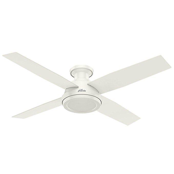 Hunter Fan Company 59248 Hunterdempsey Low Profile Fresh White Ceiling Fan With Remote 5 Ceiling Fan With Remote White Ceiling Fan Ceiling Fans Without Lights