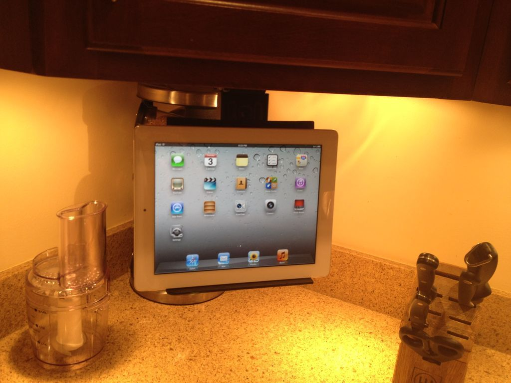 Under Cabinet IPad / Tablet Mount | Kitchens, House projects and House