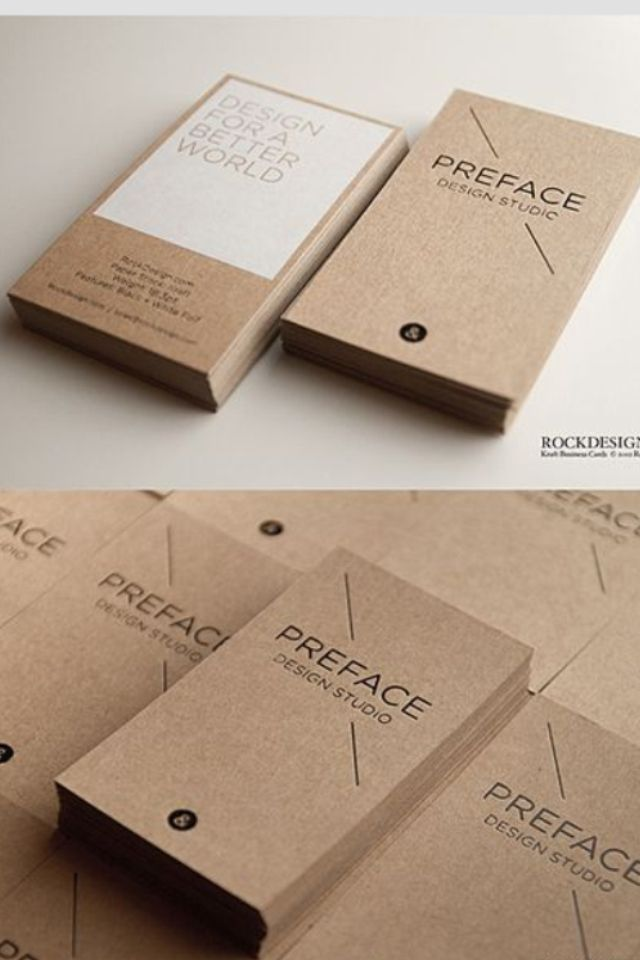 Brown kraft business cards rockdesign new brand pinterest brown kraft business cards rockdesign reheart Images
