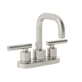 Symmons Dia Satin Nickel 2 Handle 4 In Centerset Commercial Bathroom Faucet Slc
