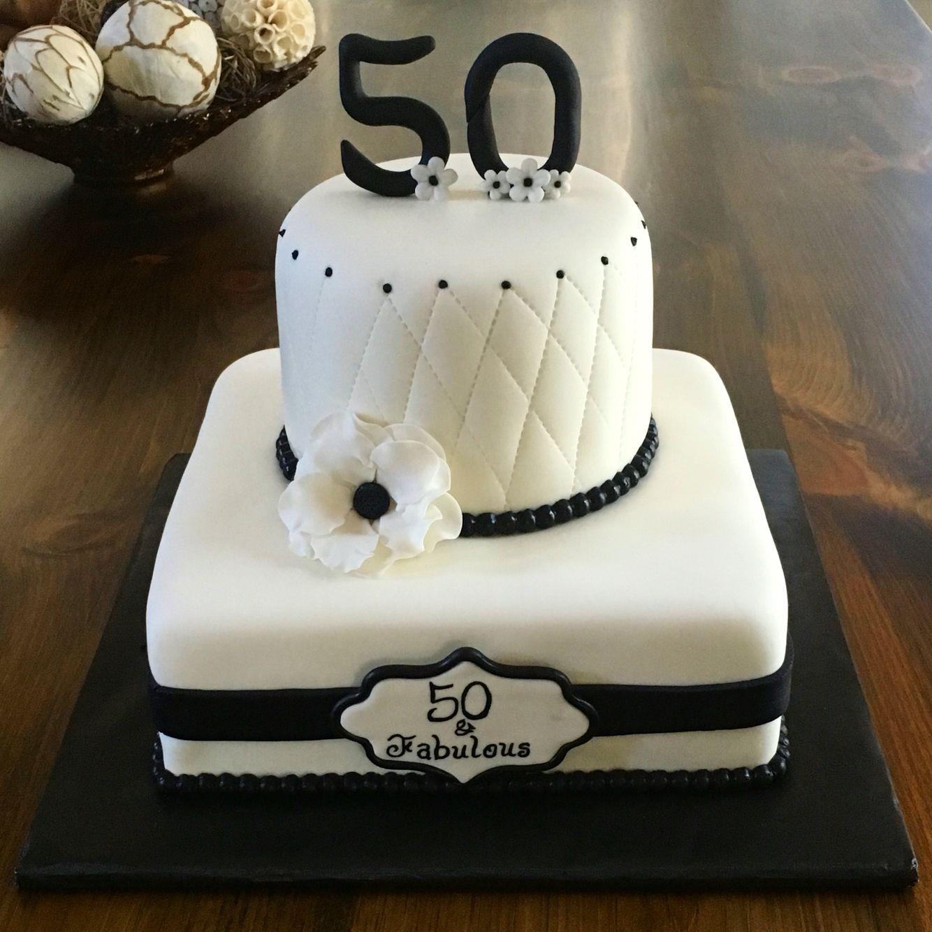 50 and fabulous cake blackandwhite 50th cake my
