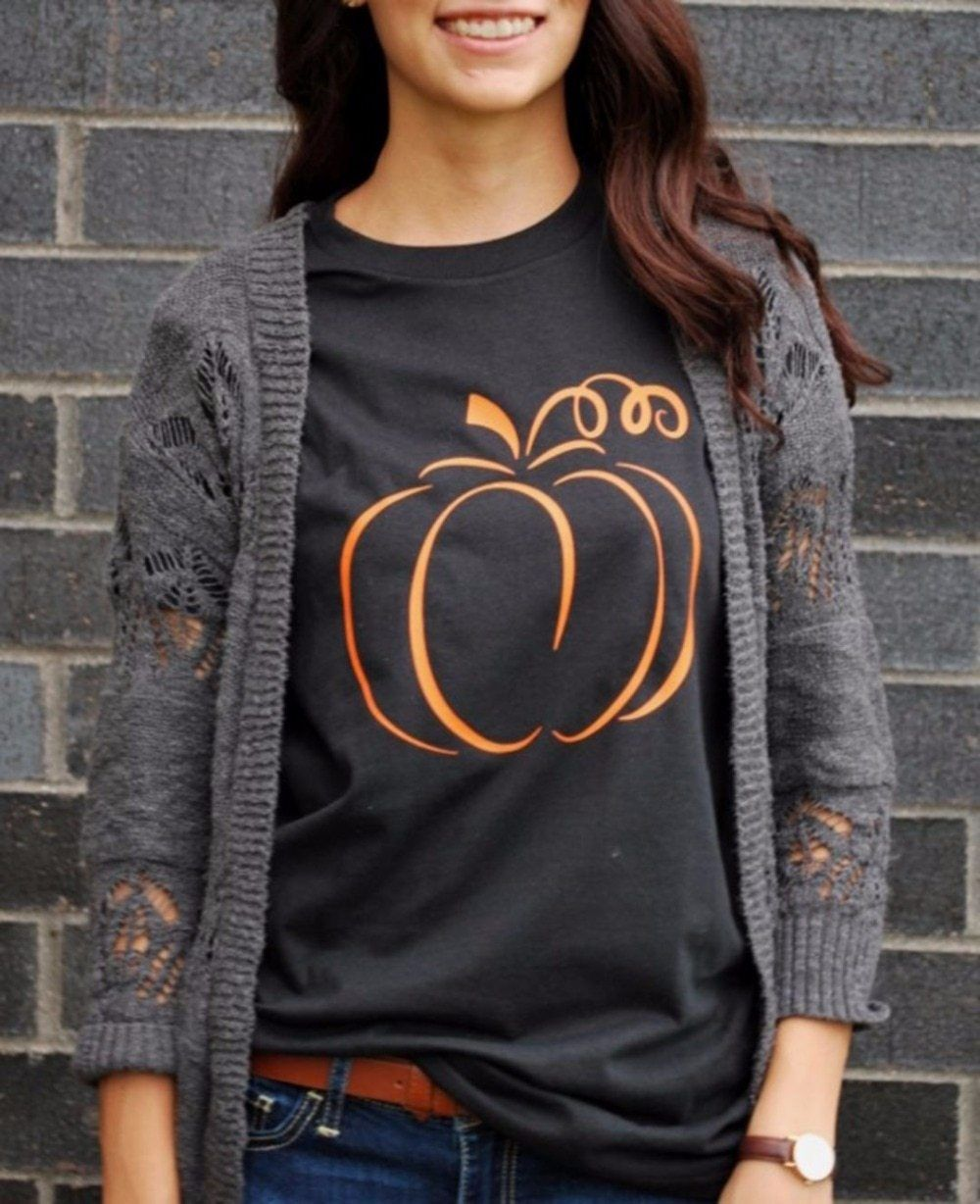 90ccf3f29 Halloween pumpkin graphic t-shirt women fashion 90s funny cotton tops  grunge party style casual tees holiday gift tumblr t shirt #shirt #funny  #women ...