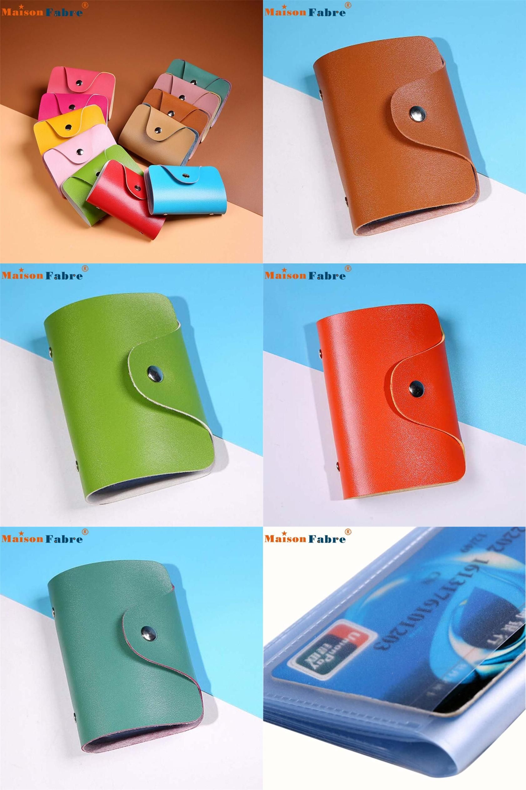 Visit To High Quality Men Women Leather Credit Card Holder Case