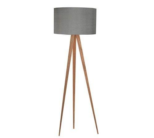 Zuiver Stehlampe TRIPOD WOOD Grau 10005845 | Stehlampe