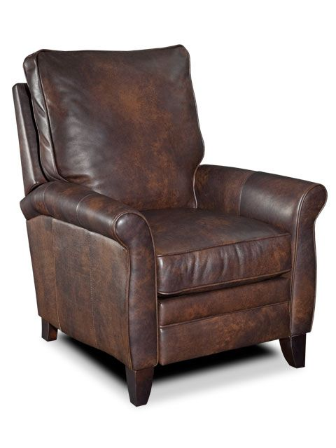 The Luca Leather Recliner Shows The Interesting Distressed Leather